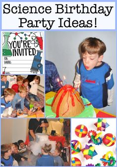 Kids love to conduct experiments- mix things together, see how they turn out, maybe make something cool like slime or even chewing gum! So a Science Birthday Party is sure to be a hit! Birthday Party At Home, Birthday Party Games For Kids, Boy Party Favors, Birthday Activities, Birthday Themes For Boys, Kids Party Themes, Birthday Party Decorations, Birthday Party Invitations, Birthday Cakes