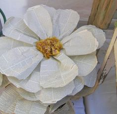 giant paper flower for tent top