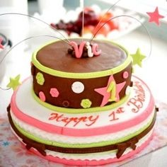 idea #1   for our little stars bday cake - but have it in bright colors - red, yellow, blue, etc