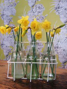 Cute spring flower arrangement .....
