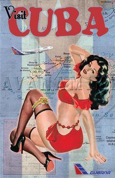 50-е годы. Плакат «Посетите Кубу!»