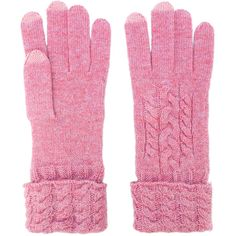 N.Peal Cable Knit Gloves (4.785 RUB) ❤ liked on Polyvore featuring accessories, gloves, cashmere gloves, cable gloves and cable knit gloves