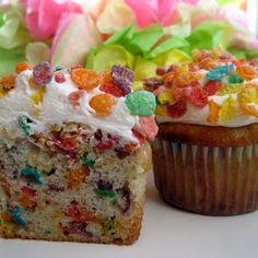 Fruity Pebble Cupcakes Recipe | Key Ingredient