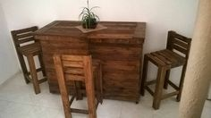 Pallet Bar with Chairs