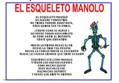 POESIA: EL ESQUELETO MANOLO Human Body, Preschool, Education, How To Make, Google, Human Body Bones, Human Skeleton, Halloween Poems, Danish Language