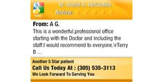 This is a wonderful,professional office starting with the Doctor and including the...