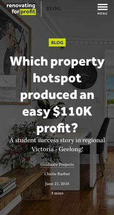 Learn how this star student followed the Cosmetic Renovations For Profit strategy with amazing results!!