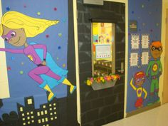 Coaching Chronicles: Our Third Grade Classroom---awesome class theme! Superhero School Theme, Superhero Classroom Decorations, School Themes, Classroom Themes, Classroom Organization, School Ideas, School Fun, Classroom Management, School Assistant