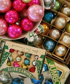 we have been collecting vintage christmas ornaments for years!  they are so fun to hunt for...