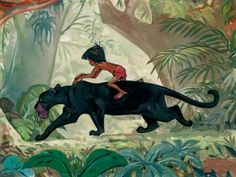Disney Fine Art Gallery Wrapped Giclee - Jungle Guardian by Jim Salvati from The Jungle Book