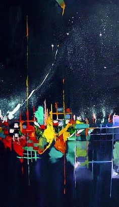 Ronald Dykes, Celebration  Oil on Canvas  60 x 36 x 2