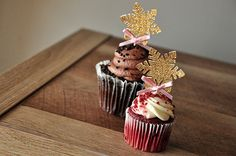 Winter Onederland Snowflake Cupcake Toppers by ConfettiMommaParty