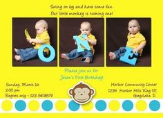 I love this invite idea.  the little boy spelling out one is way too cute!!