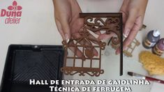Técnica de ferrugem - Gaiolinha Hall de Entrada