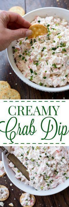 Creamy Crab Dip http://ValentinasCorner.com