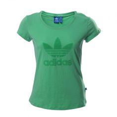 Disfruta de un look casual y atlético con la Camiseta Adidas Trefoil Logo diseñada para lucir tu figura y para mantenterte súper cómoda.