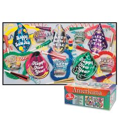 Americana New Year's Eve Party Kit for 10 People