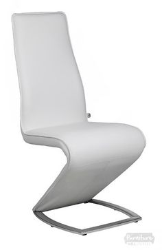 Sophia White Faux Z Leather Dining Chair