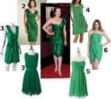Emerald Green Wedding mixed dresses