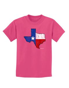 State of Texas Flag Design - Distressed Childrens Dark T-Shirt