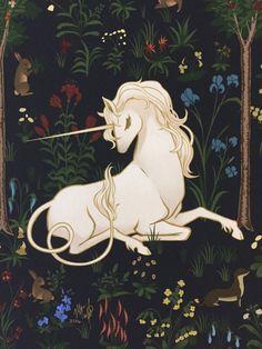 8 x 10 lámina Bosque del unicornio bosque por MeganMissfit en Etsy