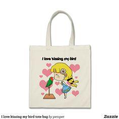 I love kissing my bird tote bag. Available also in different bag style. #cutecartoon #cutebird #cutegirl #kawaiibird #kissingabird #crazybirdlady #kissinggirl #lovebird #ilovemypet #birdnerd #littlegirl #daughter #birdlover #parrot #manga #chibi #avian #zazzle #petopet #emmilthomas #deviantart #merchandise #sale #bird #birds #tote #totebag #totebags #bag #bags