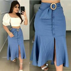 Plus size outfits Skirt Outfits, Chic Outfits, Dress Skirt, Fashion Outfits, Womens Fashion, Skirt Suit, Dress Fashion, African Fashion Dresses, African Dress