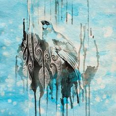 Original painting SOLD, acrylic painting on canvas, 300 x 2015 Explore the story of the artwork >> Print sizes and editions (limited to Regular archival paper - 300 x Your unique li Bird Artwork, Cool Artwork, New Zealand Art, Nz Art, Maori Art, Sculpture Art, Metal Sculptures, Abstract Sculpture, Bronze Sculpture