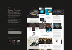 The Grid: Website (Free PSDs) on Behance