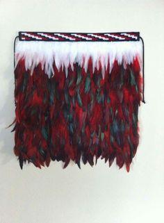 Korowai Maori Patterns, Grass Skirt, Maori Designs, Nz Art, Maori Art, Melbourne Cup, Feather Crafts, Weaving Art, 70th Birthday