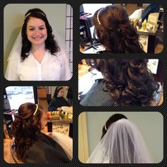 Wedding Hair, this is a bride with half up and down. Very popular right now in 2014! I love the veil and how it brings the whole look together