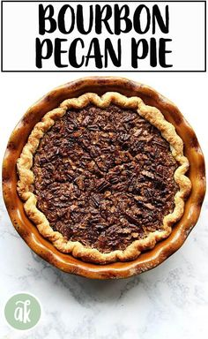 This no corn syrup, bourbon pecan pie has become a staple on the Thanksgiving table. The foolproof pie dough comes together in a snap. #pie #dough #foolproof #bourbon #pecan #thanksgiving
