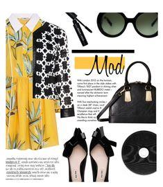 """Mod"" by sofiasolfieri on Polyvore featuring Tiffany & Co., Fendi, Gabriella Rocha, Tia, Prada, Bobbi Brown Cosmetics, vintage, prints, leatherjacket and VintageInspired"