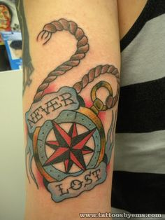 Compass Rose By Ems Tattoo By Me On The Back Of Chriss Arm