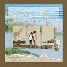 Beach Album -- Front Cover - Scrapbook.com
