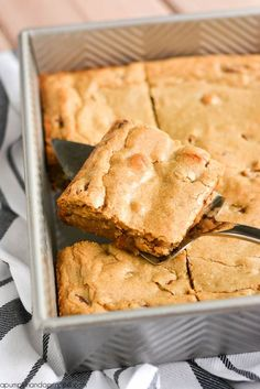 Pecan Blondies Recipe from MichaelsMakers A Pumpkin And A Princess