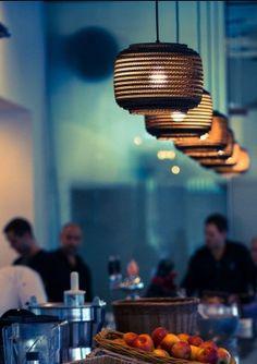 Graypants Scraplights, beautiful cardboard lamps