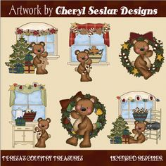 #Raggedy #Bears Deck the Halls #Clipart