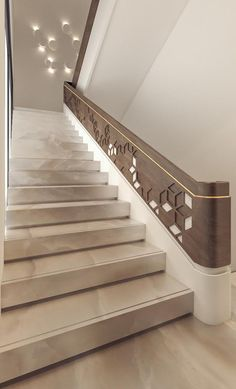 100 luxury home stair ideas modern stair decoration 2 ⋆ masnewsclub Best Picture For Stairs photoshoot For Your Taste You are looking for something, and Staircase Interior Design, Staircase Railing Design, Luxury Staircase, Marble Staircase, Home Stairs Design, Modern House Design, Staircase Decoration, Stairs Architecture, Interior Architecture