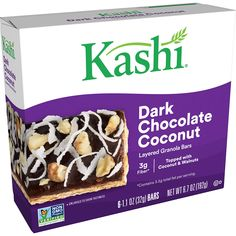 (This is an affiliate pin) Kashi Layered Granola Chocolate Verified Granola Bars, Gourmet Recipes, Breakfast Recipes, Layers, Coconut, Vegetarian, Bullet Journal, Foods, Chocolate