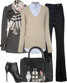 Burberry.  Office chic.
