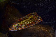"""Купить Кулон """"El Misti"""" - цветы, фиониты, кожаные украшения, кожа натуральная, бохо украшения"""