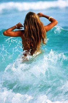 wading through the waves! remember those and the feeling of the ocean, warm water and surf! Summer Feeling, Summer Vibes, Summer Breeze, Summer Of Love, Summer Beach, Summer Hair, Pink Summer, Summer Fresh, Summer Sport