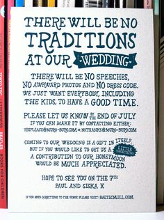 Wedding Invitation by Paul Robson, via Behance this is a great idea.