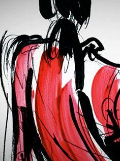 Fashion sketch // Yohji Yamamoto