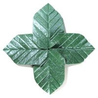 How to fold origami leaves