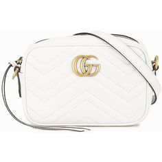 Gucci White Gg Marmont Matelassé Bag ( 915) ❤ liked on Polyvore featuring  bags f73f0d54c231b