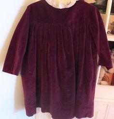 Burgundy Velvet Dress 2T3T by lishyloo on Etsy, $15.00