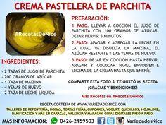 #crema #pastelera de #parchita Amazing Food Hacks, Sweets Cake, Desert Recipes, Fudge, Frosting, Cooking Recipes, Baking, Fruit, Desserts