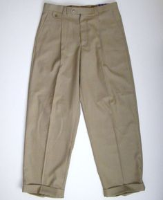 Blu Martini 34X32 VANQUISH Mens Tan Plaid Dress Pants Slacks Cuffed Pleated #BLUMARTINI #DressPleat